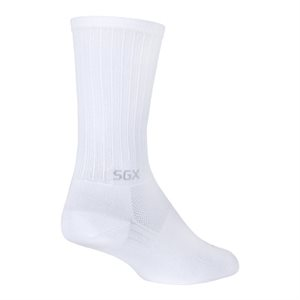 "SGX 6"" White socks"