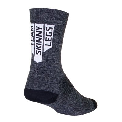 SGX Team Skinny Legs - Wool Charcoal Gray Socks